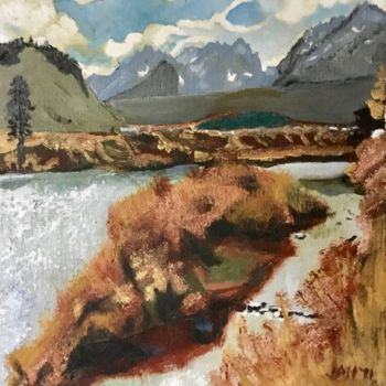 """Painting titled """"Hiking in Idaho"""" by Jan Wall, Original Art, Oil"""