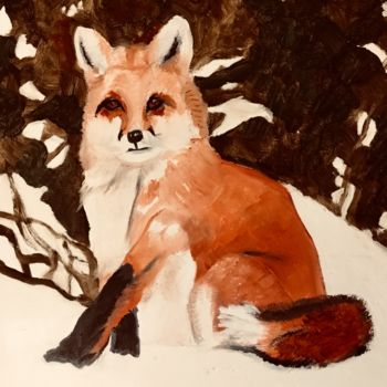 """Painting titled """"Red Fox"""" by Jan Wall, Original Art, Oil"""