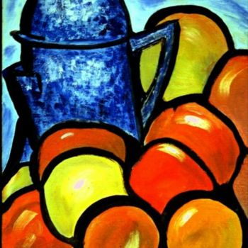 """Painting titled """"Coffee Pot"""" by Jan Wall, Original Art, Oil"""