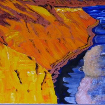 """Painting titled """"The Cliffs at Palom…"""" by Jan Wall, Original Art, Oil"""