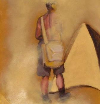 """Painting titled """"2012:  On the Plaza"""" by Jan Wall, Original Art, Oil"""