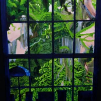 """Painting titled """"Window"""" by Jan Wall, Original Art, Oil"""
