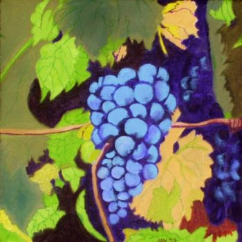 """Painting titled """"Grape Harvest"""" by Jan Wall, Original Art, Oil"""