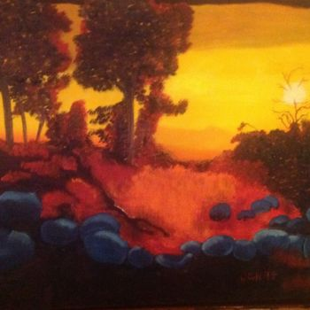 """Painting titled """"Westering"""" by Jan Wall, Original Art, Oil"""