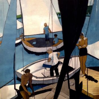 """Painting titled """"Sailing"""" by Jan Wall, Original Art, Oil"""