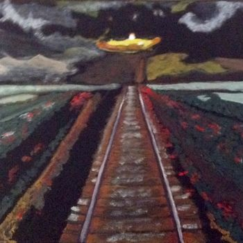 """Painting titled """"Into the Futureimage"""" by Jan Wall, Original Art, Oil"""