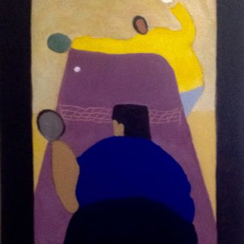 """Painting titled """"PIng-pong"""" by Jan Wall, Original Art, Oil"""