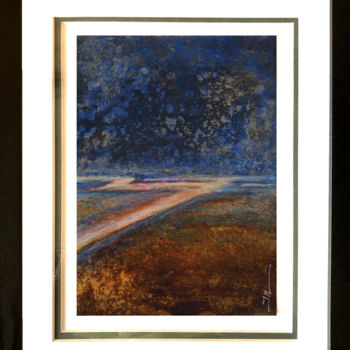 """Painting titled """"Rainy Day"""" by Jean-Luc Lacroix (JL LACROIX), Original Art, Acrylic Mounted on Other rigid panel"""