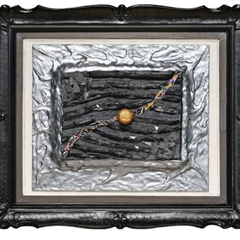 """Sculpture titled """"Fracture 4"""" by Jean-Pierre Duvaux, Original Art, Mosaic Mounted on Wood Panel"""