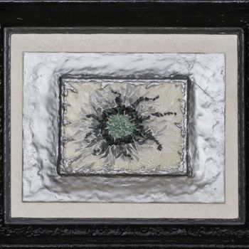 """Sculpture titled """"Fracture 5"""" by Jean-Pierre Duvaux, Original Art, Mosaic Mounted on Wood Panel"""