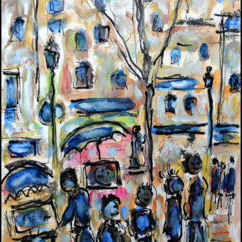 Painting, oil, expressionism, artwork by Jean Mirre