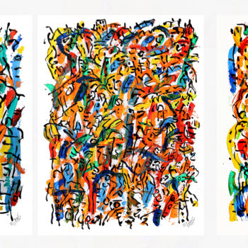 Painting, oil, abstract, artwork by Jean Mirre