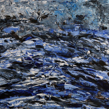 """Painting titled """"OCEANO NOX"""" by Jeannette Allary, Original Art, Oil"""