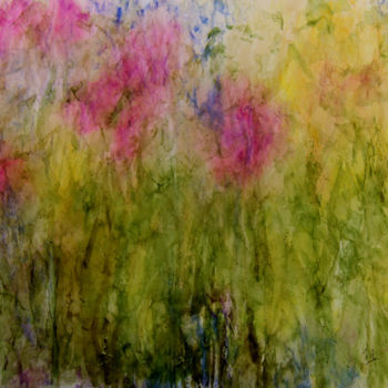 Painting, watercolor, abstract, artwork by Jeannette Allary