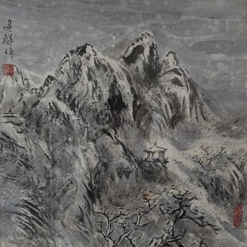 """Painting titled """"Works No.21 Winter"""" by Lianxiang Jiang 姜连祥, Original Art, Pigments"""