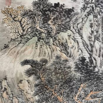 """Painting titled """"Works No.63:Seclude…"""" by Lianxiang Jiang 姜连祥, Original Art, Pigments"""