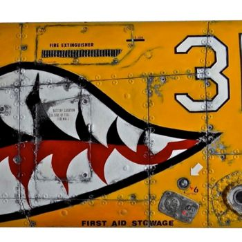 """Painting titled """"FLYING TIGERS ON YE…"""" by Jerome Chauvin (JICE), Original Art, Acrylic"""