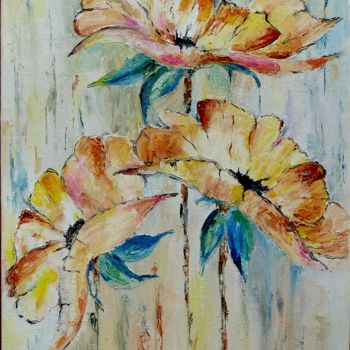 Painting, oil, abstract, artwork by Jean Jourdan