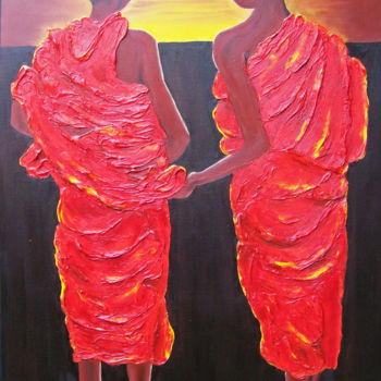 Asia Painting, oil, expressionism, artwork by Jo Moore