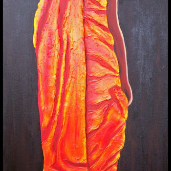 """Painting titled """"Reaching for the Su…"""" by Jo Moore, Original Art, Oil Mounted on Stretcher frame"""