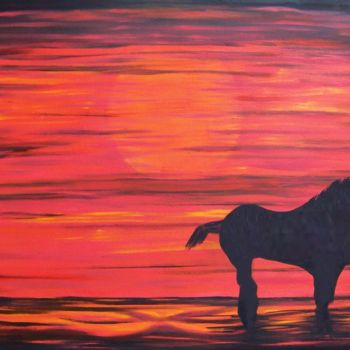 Horse Painting, oil, abstract, artwork by Jo Moore