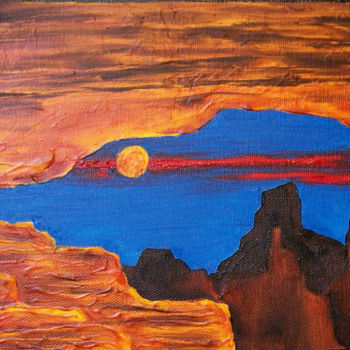 """Painting titled """"Enchanted Mesas XXI…"""" by Jo Moore, Original Art, Oil"""