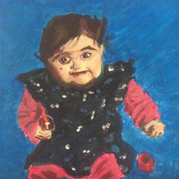"""Painting titled """"Painting of a baby"""" by Torquil, Original Art, Acrylic"""