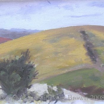 """Painting titled """"The Downs near Brig…"""" by Jon Phillipson Brown, Original Art,"""