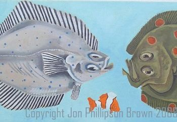 """Painting titled """"Tres peces"""" by Jon Phillipson Brown, Original Art,"""