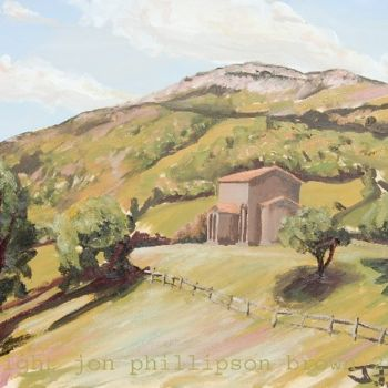 """Painting titled """"Landscape with the…"""" by Jon Phillipson Brown, Original Art, Oil"""