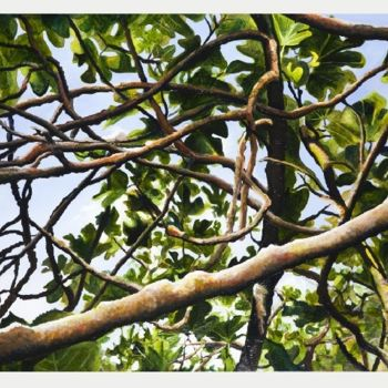 """Painting titled """"Leaves and Branches…"""" by Jon Phillipson Brown, Original Art, Oil"""