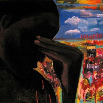 """Painting titled """"Crying for Change"""" by Joyce Owens, Original Art,"""