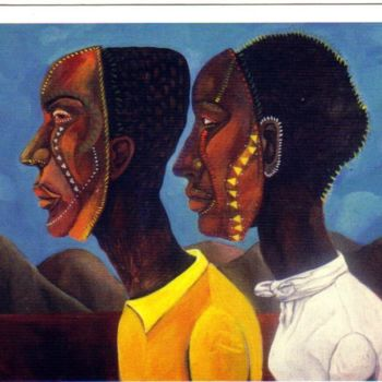 """Painting titled """"We Are"""" by Joyce Owens, Original Art,"""