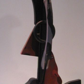 Sculpture, wood, cubism, artwork by Joyce Owens