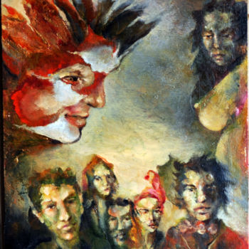 """Painting titled """"demented-minded-cro…"""" by Biro, Original Art,"""