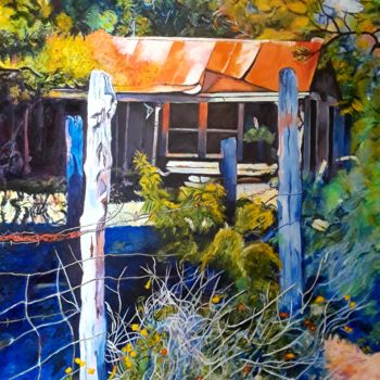 """Painting titled """"Shady Hideaway in t…"""" by J S Ellington, Original Art, Acrylic"""