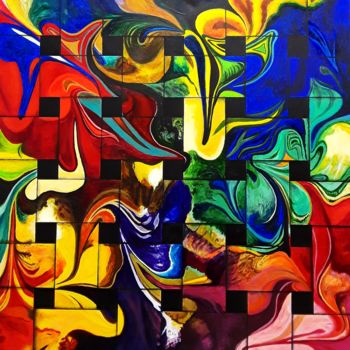 """Painting titled """"Life is in Color"""" by J S Ellington, Original Art, Acrylic"""