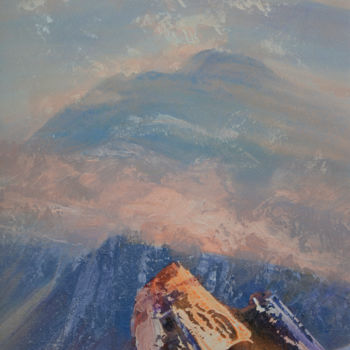 Mountainscape Painting, acrylic, figurative, artwork by Kevan Mcginty