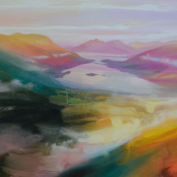 Mountainscape Painting, acrylic, impressionism, artwork by Kevan Mcginty