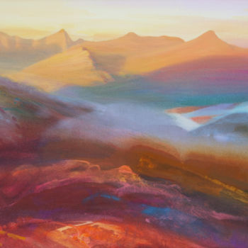 Mountainscape Painting, acrylic, expressionism, artwork by Kevan Mcginty