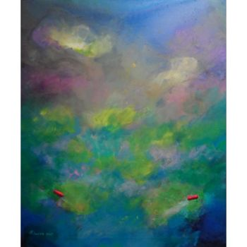 """Painting titled """"Abstract Whirling D…"""" by Khusro Subzwari, Original Art, Acrylic"""