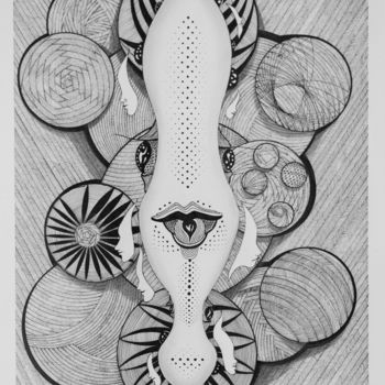 """Drawing titled """"Crazy Dream"""" by Mihail Ivanov, Original Art, Ink"""