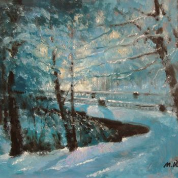 """Painting titled """"In the Park"""" by Mark Kremer, Original Art,"""