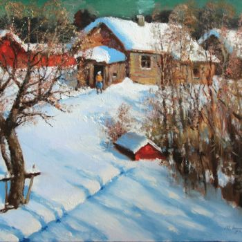 """Painting titled """"Sunny March in Vill…"""" by Mark Kremer, Original Art, Oil"""