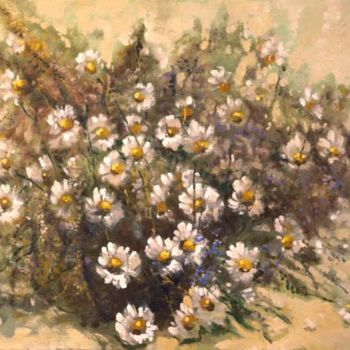 """Painting titled """"Camomiles and wild…"""" by Mark Kremer, Original Art, Oil"""