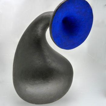 """Sculpture titled """"""""Blue note"""""""" by Yves Pagart, Original Art, Clay"""