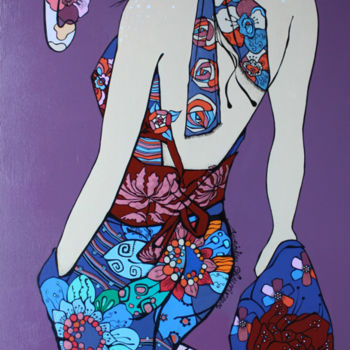 Painting, acrylic, figurative, artwork by Aurelie Chauvin
