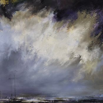 """Painting titled """"'Zen on the sea13'"""" by Laura Rominu, Original Art, Oil Mounted on Other rigid panel"""