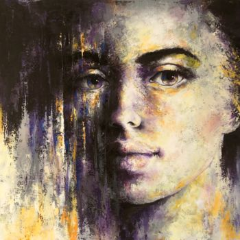 """Painting titled """"'Expression01'"""" by Laura Rominu, Original Art, Oil Mounted on Other rigid panel"""