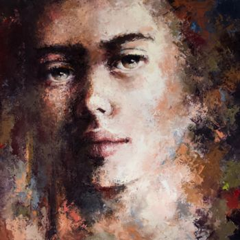 """Painting titled """"'Expression40'"""" by Laura Rominu, Original Art, Oil"""